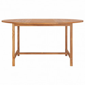Masa de gradina, 150 x 76 cm, lemn masiv de tec - V49007V
