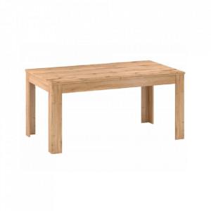 Masă de luat masa pliantă, 160-200cm, stejar apalache, PUSAN S