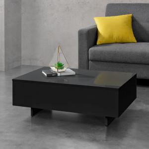 Masuta de cafea Calabria, 85 x 55 x 31 cm, 15 mm PAL, melaminat, negru lucios - P69102693