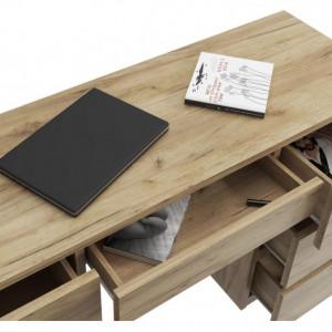 MBBIAR1 - Birou 120 cm, masa de calculator cu 7 sertare, office - Culoare Stejar