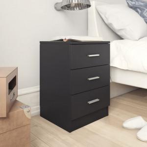 Noptiere, 2 buc., negru, 38 x 35 x 56 cm, PAL - V800453V