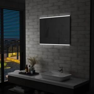 Oglinda cu LED de perete de baie cu senzor tactil, 80 x 60 cm - V144733V