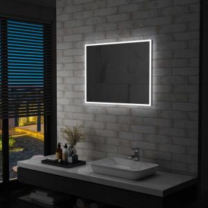 Oglinda cu LED de perete pentru baie, 80 x 60 cm - V144727V