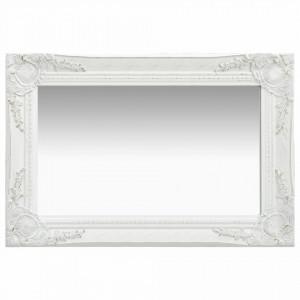 Oglinda de perete in stil baroc, alb, 60 x 40 cm - V320328V