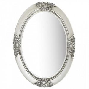 Oglinda de perete in stil baroc, argintiu, 50 x 70 cm - V320354V