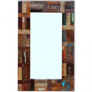Oglinda din lemn reciclat de esenta tare, 80x50 cm - V243329V