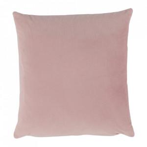 Pernă, material textil de catifea roz pudră, 60x60, OLAJA TIPUL 2
