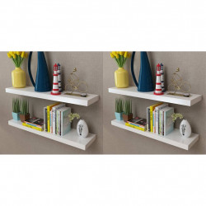 Rafturi de perete, 4 buc., alb, 80 cm - V275998V
