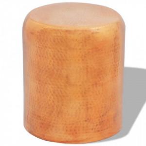 Scaun aluminiu batut la ciocan/masa laterala/culoare alama - V242327V