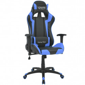 Scaun birou rabatabil design racing piele artificiala, albastru - V20171V