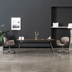 Scaun de birou pivotant, gri taupe, material textil - V3054829V