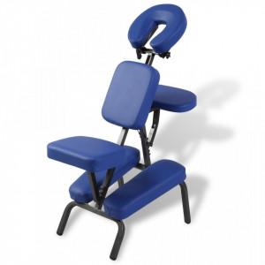 Scaun de masaj pliabil & portabil, albastru - V110101V