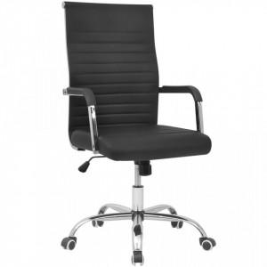 Scaun pentru birou din piele artificiala 55x63 cm, Negru - V20124V