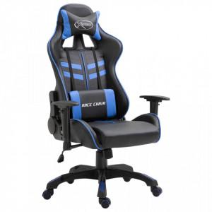 Scaun pentru jocuri, albastru, piele ecologica - V20192V
