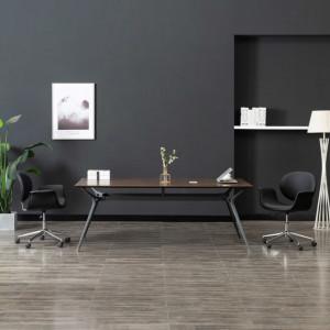 Scaun pivotant de birou, negru, piele ecologica - V3054824V