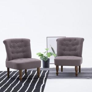 Scaun stil frantuzesc, gri taupe, material textil - V282130V