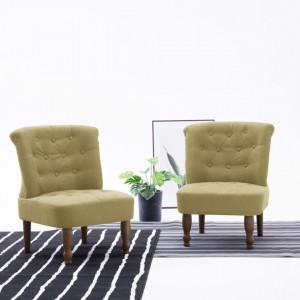 Scaun stil frantuzesc, verde, material textil - V282126V