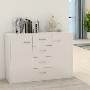 Servanta, alb extralucios, 88x30x65 cm, PAL - V800690V