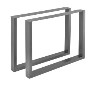 Set 2 bucati picioare masa/mobilier Model 4, 90 x 72 cm, metal, gri metal - P57353515