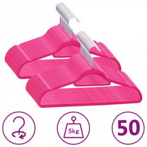 Set de umerase anti-alunecare, 50 buc., roz, catifea - V289924V