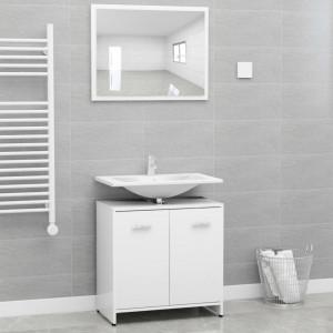 Set mobilier de baie, alb, PAL - V802579V
