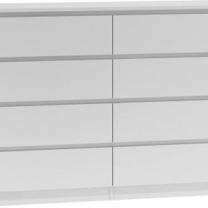 TECOA118 - Comoda 138 x 40 x 97 cm, Alb-Mat