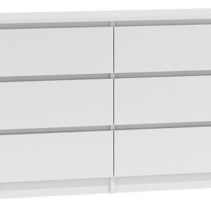 TECOA122 - Comoda 120 x 30 x 77 cm, Alb-Mat