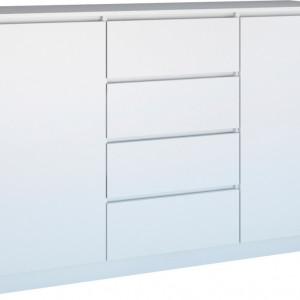TECOA134 - Comoda 140 x 40 x 97 cm, Alb-Mat