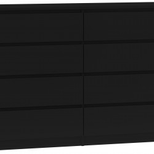 TECON104 - Comoda 138 x 40 x 97 cm, Negru-Mat