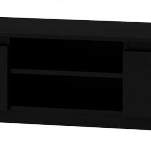 TECOTVN107 - Comoda TV 140 x 40 x 36 cm, Negru-Mat
