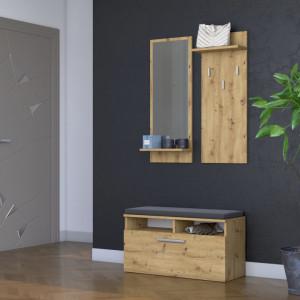 TECUIAR101 - Set Cuier hol 85 x 35 cm - Stejar Artisan