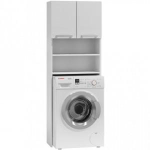 TEDUA101 - Dulap masina de spalat, Alb 64 x 30 x 183 cm, PAL
