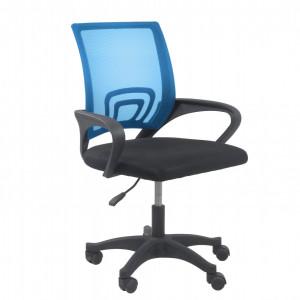 TESCN-Al101 - Scaun birou 59 x 48 x 82-92 cm - Negru-Albastru