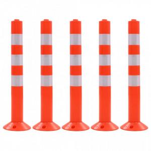 Baliza control trafic, 5 buc., plastic, 75 cm - V142829V