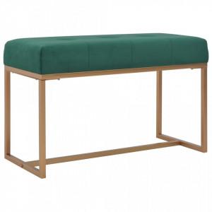 Banca, verde, 80 cm, catifea - V247555V