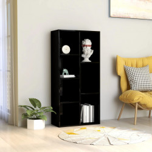 Biblioteca, negru extralucios, 50 x 25 x 106 cm, PAL - V801114V