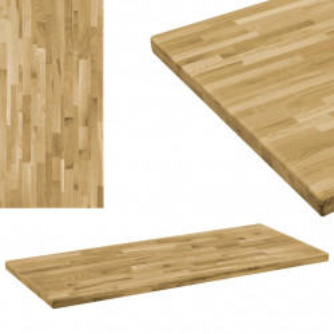 Blat masa, lemn masiv de stejar, dreptunghiular, 44mm 140x60cm - V246002V