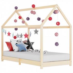 Cadru pat de copii, 70 x 140 cm, lemn masiv de pin - V283346V