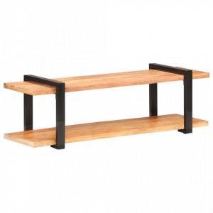 Comoda TV, 130 x 40 x 40 cm, lemn masiv de acacia - V320496V