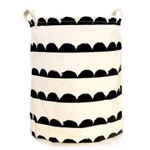 Coş de rufe, alb/model negru, PLEJO TYPUL 2