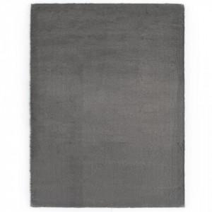 Covor, gri inchis, 160 x 230 cm, blana ecologica de iepure - V285092V