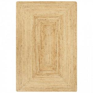 Covor manual, natural, 120 x 180 cm, iuta - V133729V
