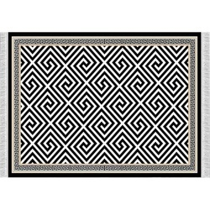 Covor, model negru-alb, 80x150, MOTIVE