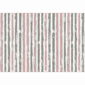 Covor, roz/gri/alb, 133x190, KARAN