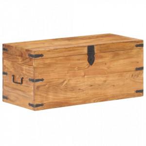 Cufar, 90 x 40 x 40 cm, lemn masiv de acacia - V289641V