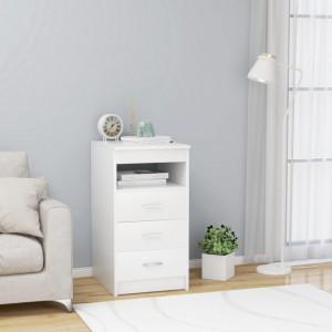 Dulap cu sertare, alb, 40 x 50 x 76 cm, PAL - V801805V