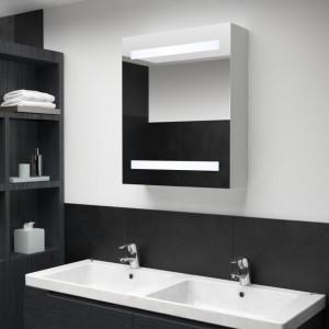 Dulap de baie cu oglinda si LED-uri, 50 x 14 x 60 cm - V285115V
