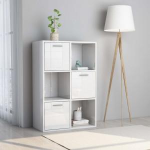 Dulap de depozitare, alb extralucios, 60 x 29,5 x 90 cm, PAL - V801140V