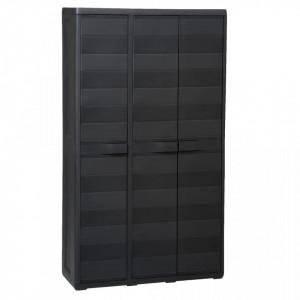 Dulap de depozitare pentru gradina, cu 4 rafturi, negru - V43700V