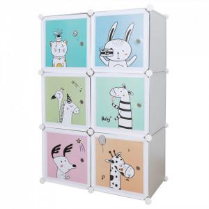 Dulap modular pentru copii, gri / model pentru copii, BIARO